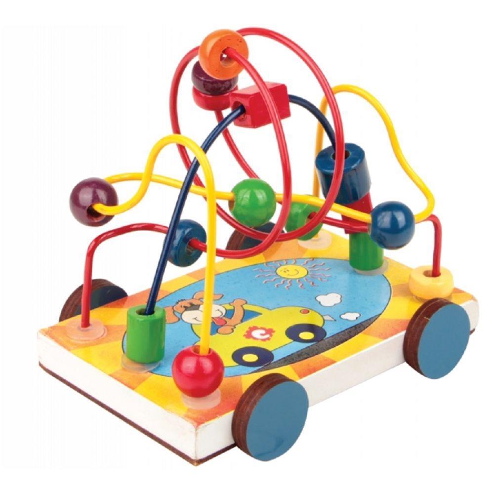 Brinquedo Pedagógico Carrinho Aramado em MDF Carlu