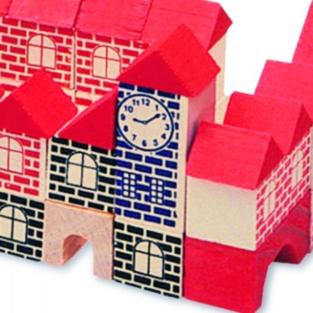 Brinquedo Pedagógico Madeira Brincando de Engenheiro 120 peças Xalingo