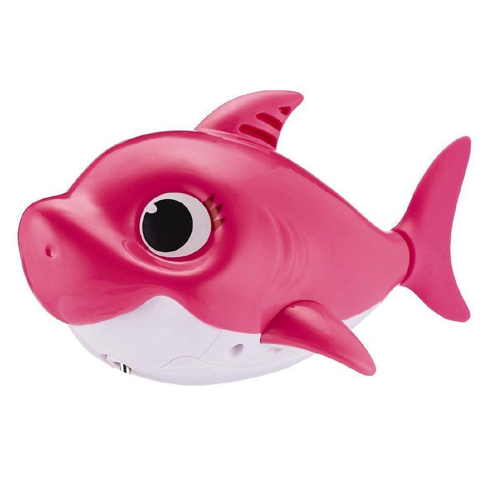 Brinquedo Robo Alive Baby Shark Ativado na Água Pink Fong Candide