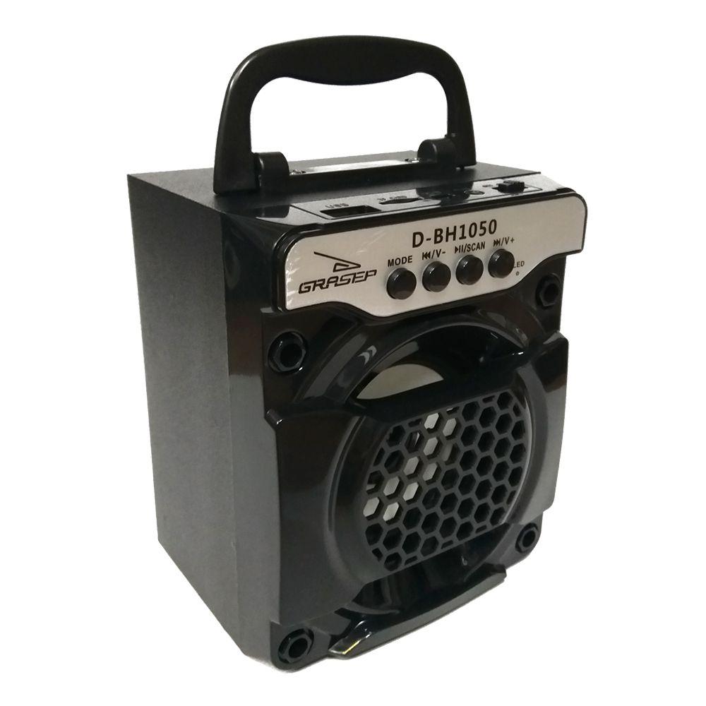 Caixa Som Portátil Amplificada Usb Mp3 Radio Fm Sd Bluetooth Hifi Grasep