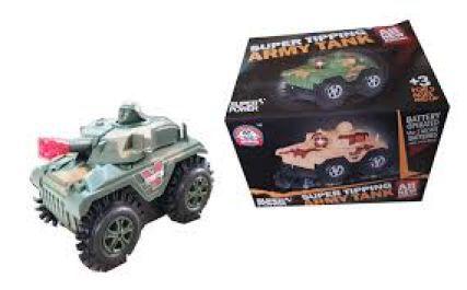 Carrinho Cambalhota Army Tank Brinquedo Tanque de Guerra