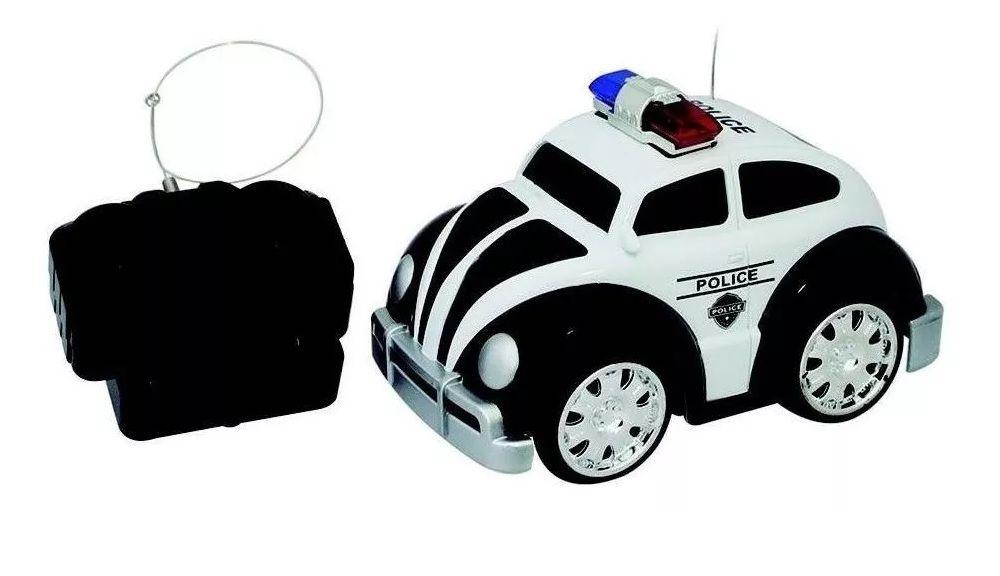 Carro Controle Remoto Fusca Police 7 Funçoes Well Kids