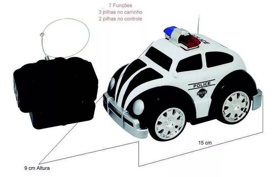 Carro Controle Remoto Fusca Police 7 Funções Well Kids