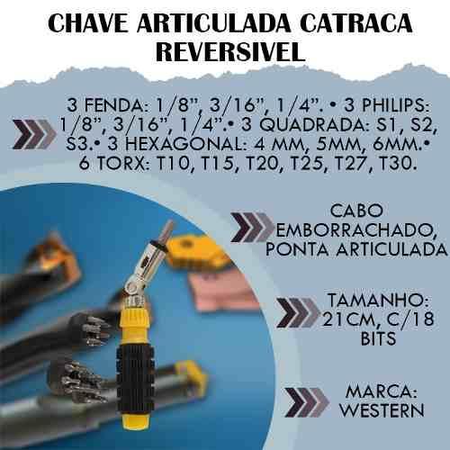Chave Articulada com Catraca Reversível 18 bits Western