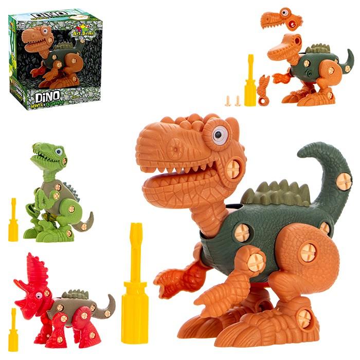 Dinossauro Dino Monta e Desmonta Com Ferramenta Art Brink