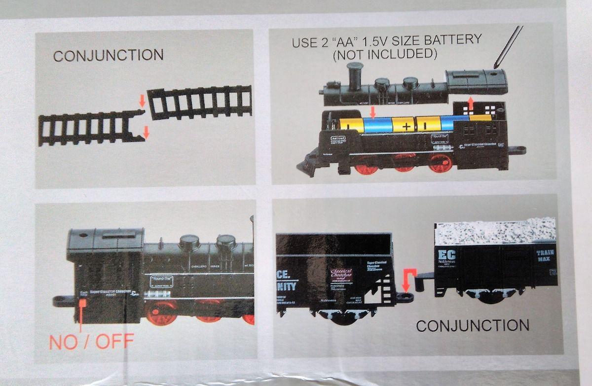 Ferrorama Trem de Brinquedo 19 peças Rail King