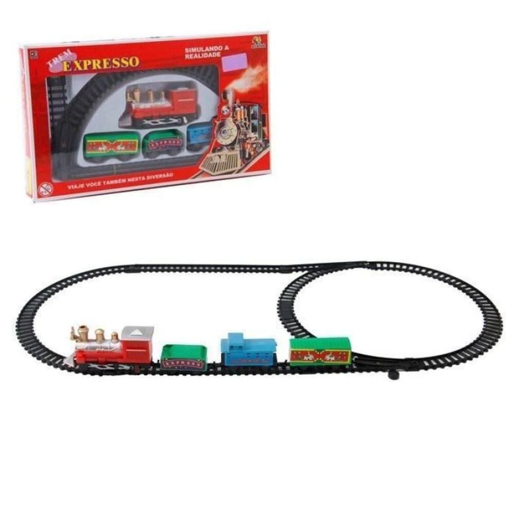 Ferrorama Trem Expresso Trilho Oval Art Brink