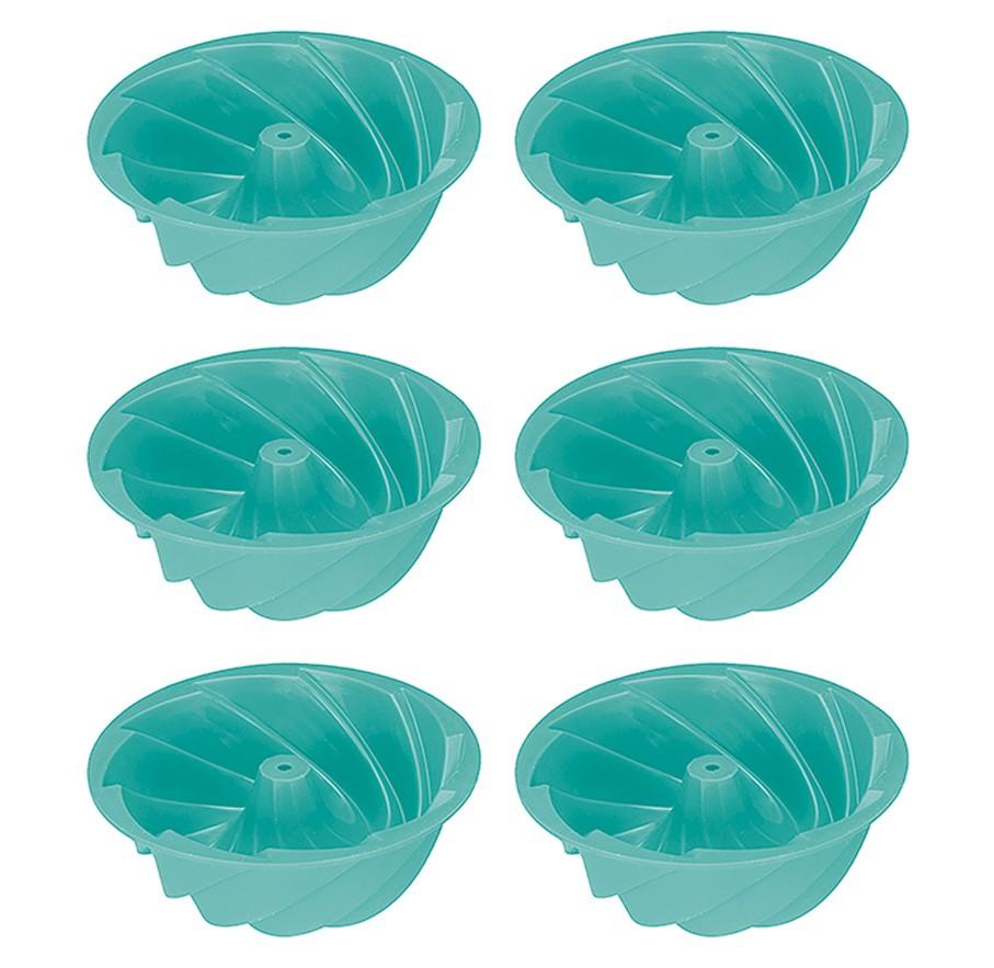 Forminhas de Silicone Linha Candy 6 unidades com Furo Cupcakes Pudim Art House