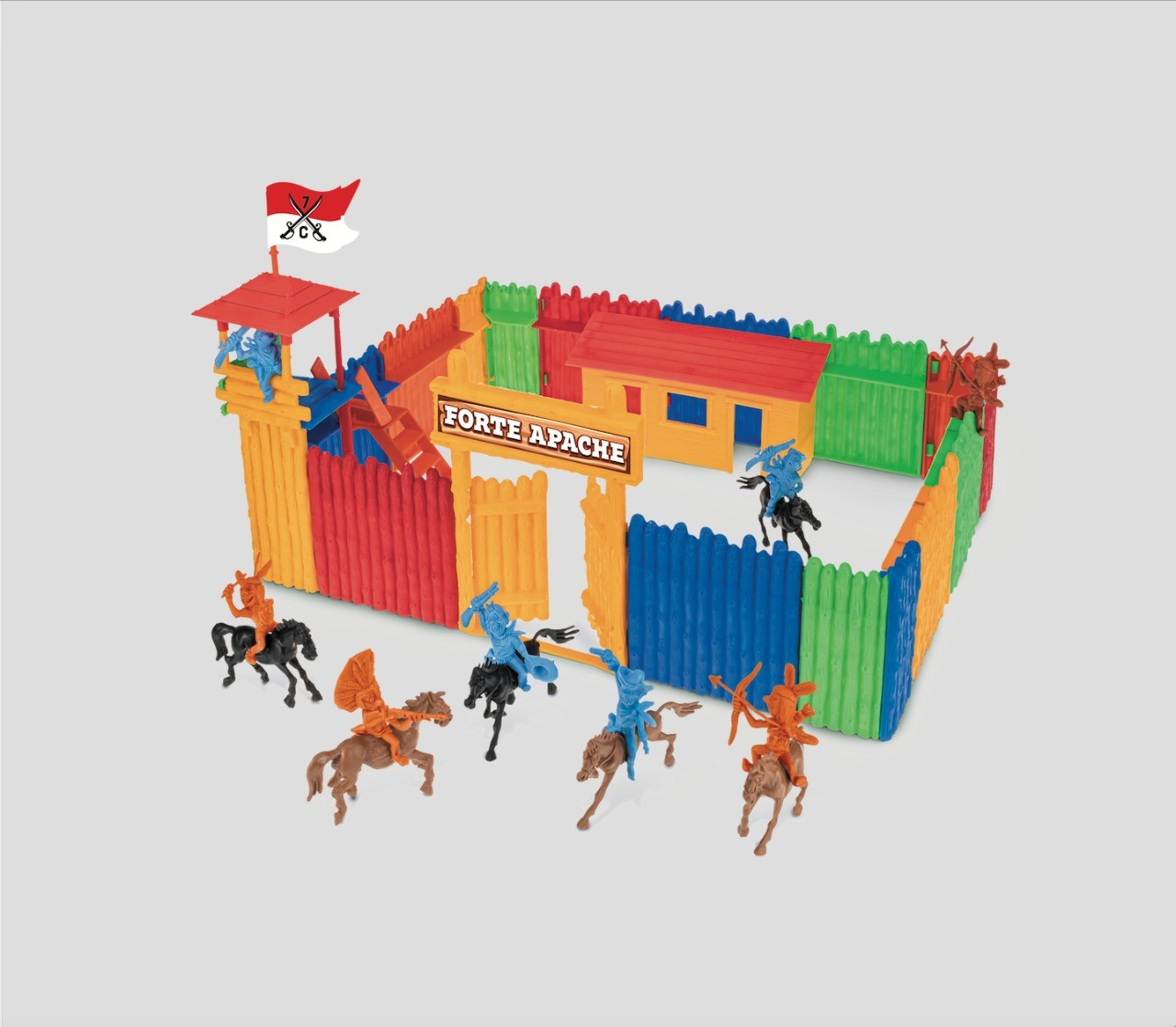 Forte Apache Kids Brinquedo Infantil Para Montar Com Maleta Gulliver