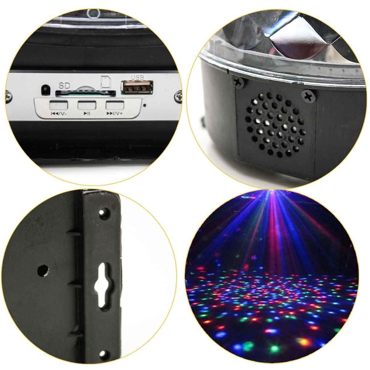 Globo Magico Led De Cristal Luatek 30 WATTS RGB MP3 CONTROLE LK 306B - Usb/sd