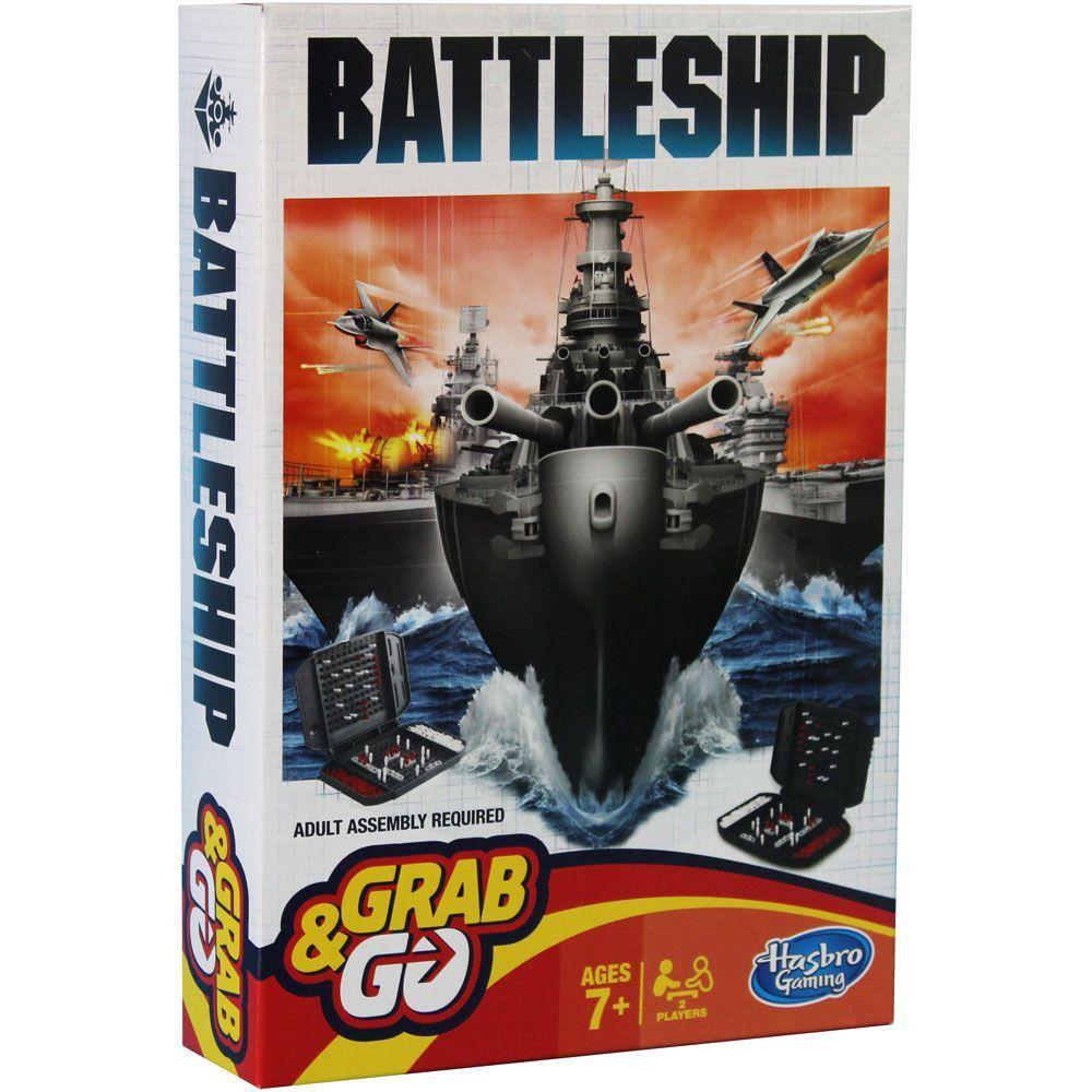 Jogo Battleship Batalha Naval Grab e Go Hasbro