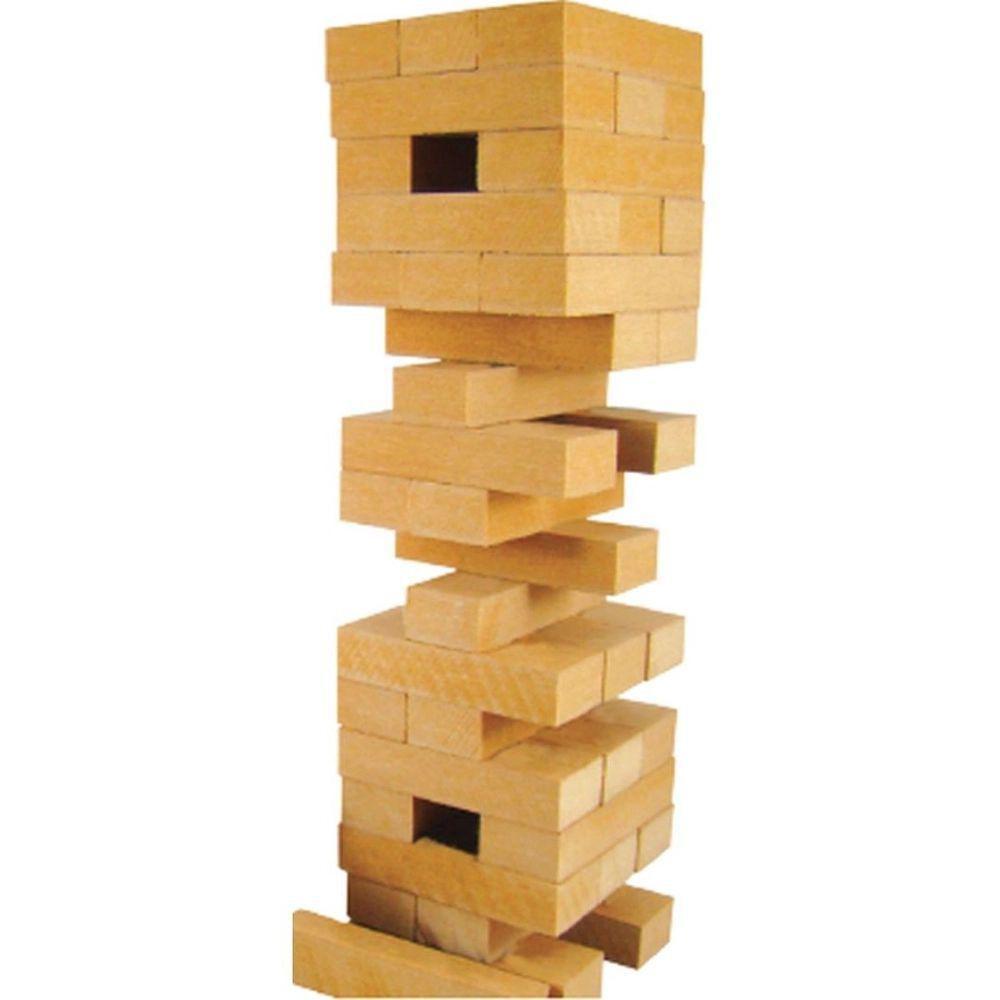 Jogo Caiu Perdeu Brinquedo de Equilíbrio Torre em Madeira Pais e Filhos