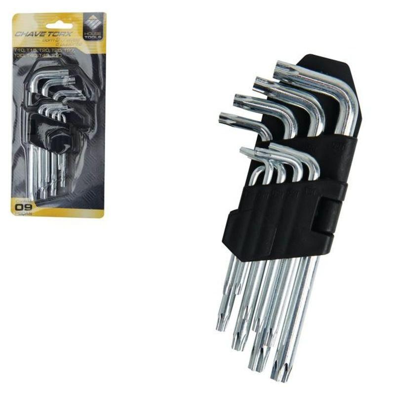 Jogo Chave Torx T10-t50 Com 9 Peças Ferramentas House Tools