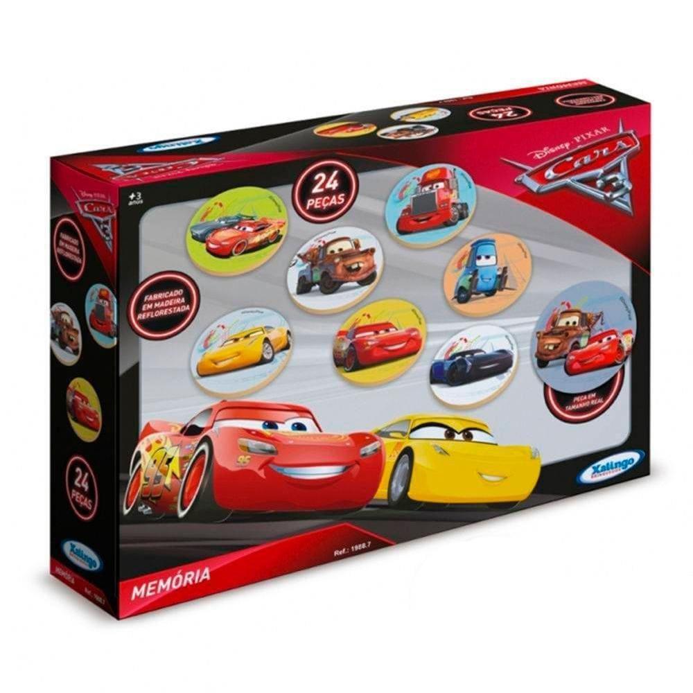 Jogo da Memória Carros Cars 3 Disney Pixar 24 pçs Xalingo