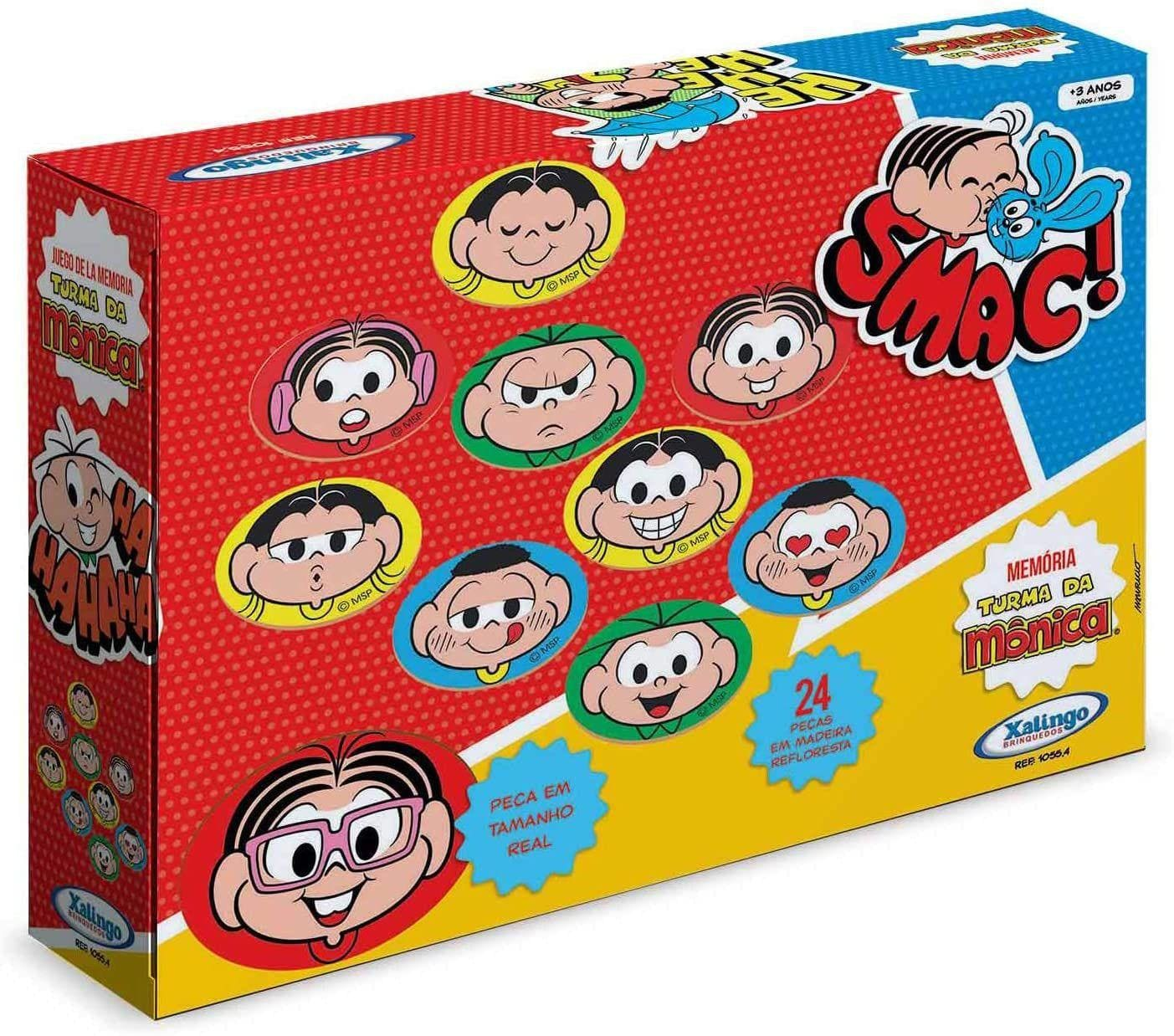 Jogo da Memória Turma da Monica 24 peças Brinquedo Xalingo