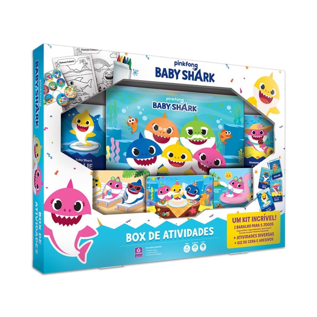 Jogo de Cartas Baby Shark Box De Atividades Pink Fong Copag