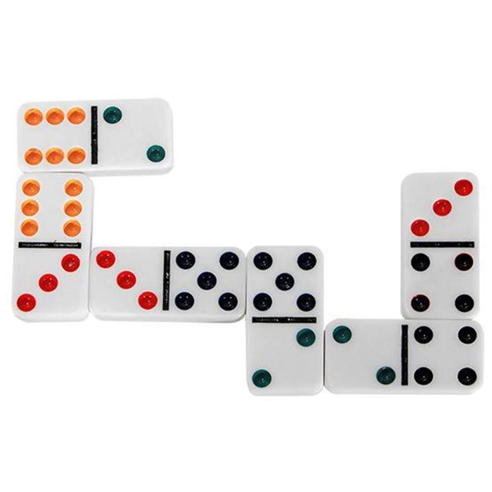 Jogo de Dominó Colorido na Lata Art Game 28 peças