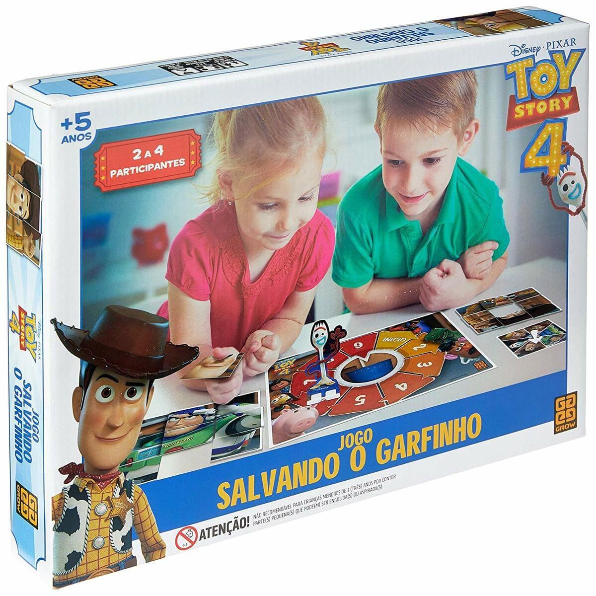 Jogo de Tabuleiro Salvando o Garfinho Toy Story Grow