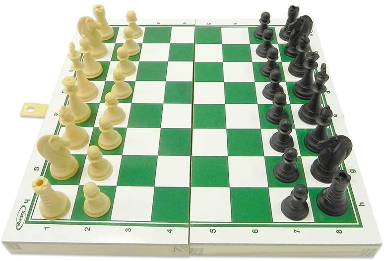 Jogo de Xadrez Escolar Tabuleiro em Madeira Xalingo