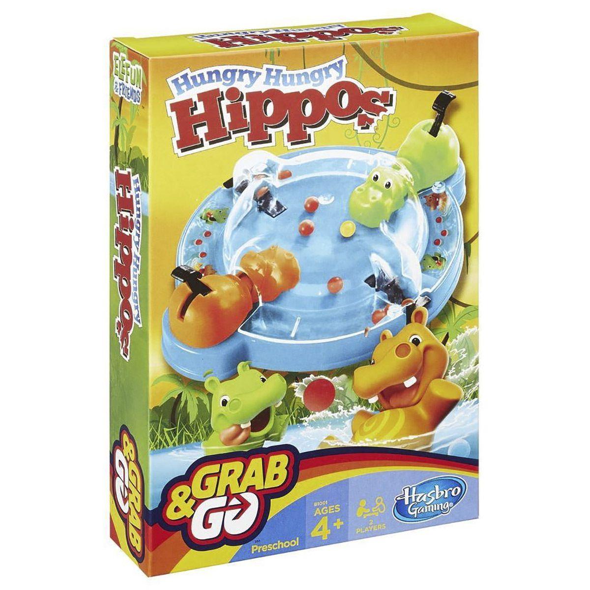Jogo Hipopotamos Comiloes Grab e Go Brinquedo Divertido Hasbro