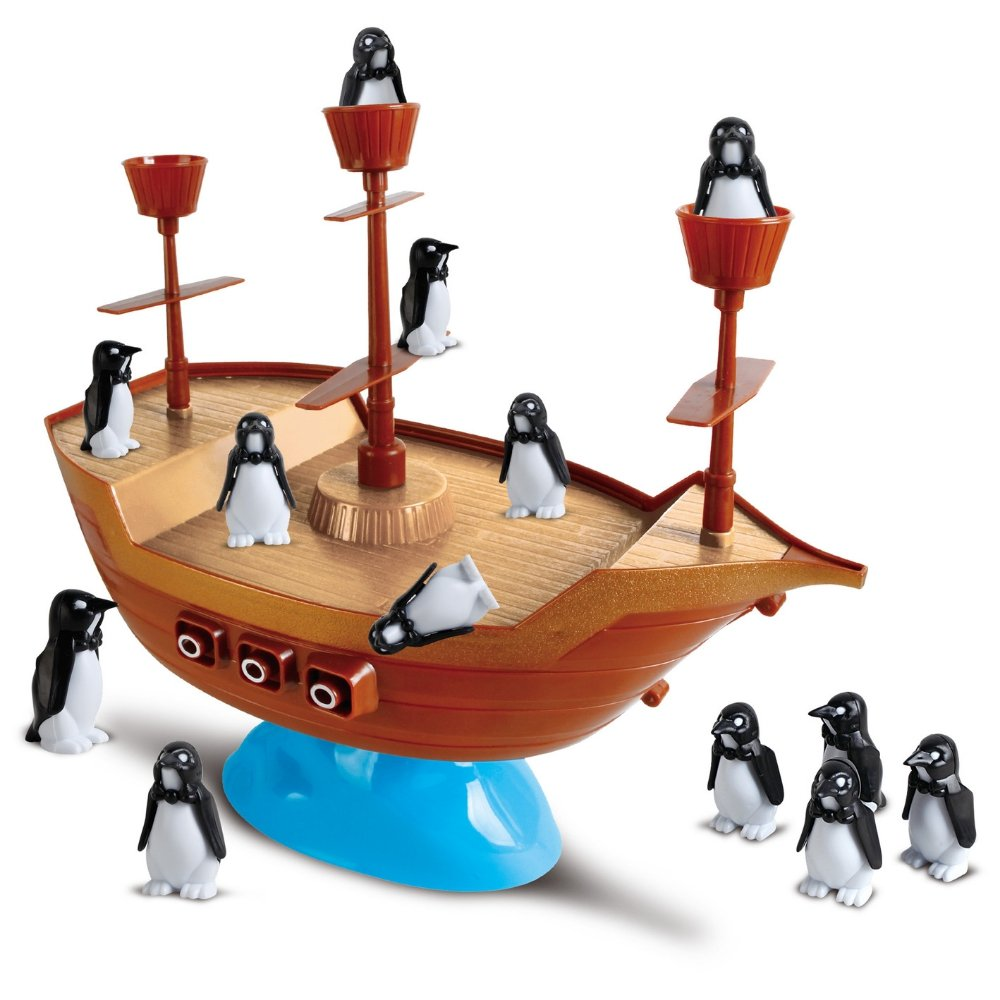 Jogo Pinguins Piratas Barco Pirata Equilíbrio dos Pinguins Art Brink