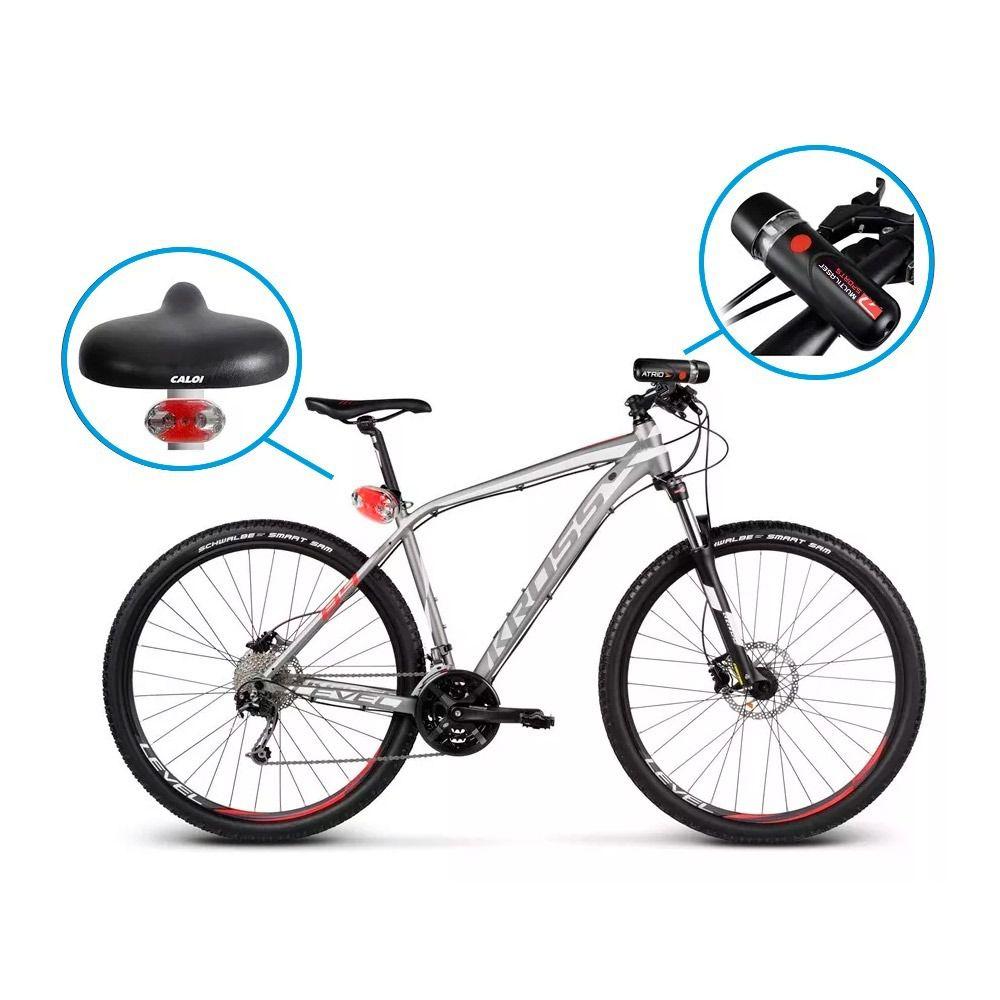 Kit Ciclismo Farol Traseiro E Dianteiro Bike Atrio Bi006