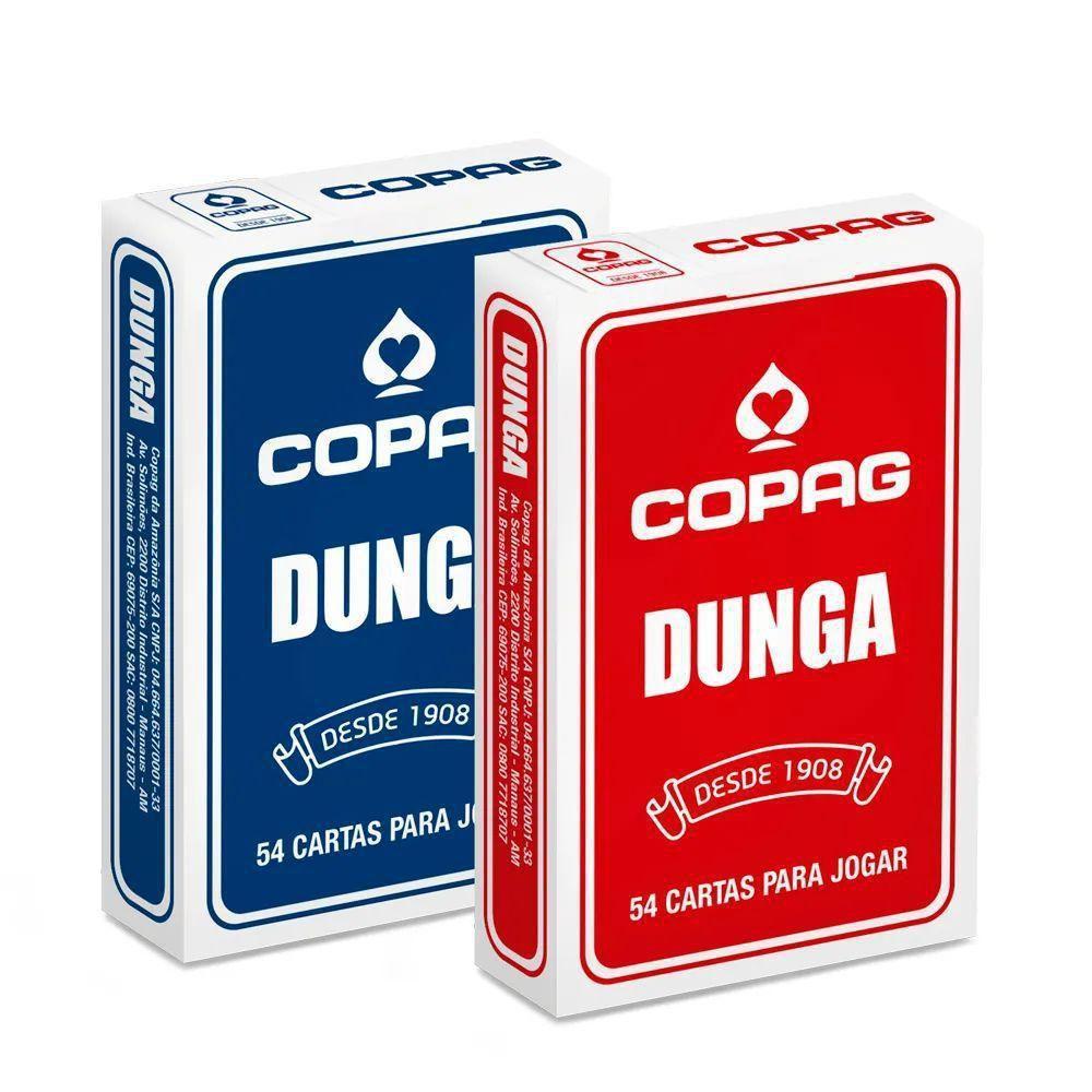 Kit com 2 Jogos de Cartas Baralho Vermelho e Azul Dunga Copag