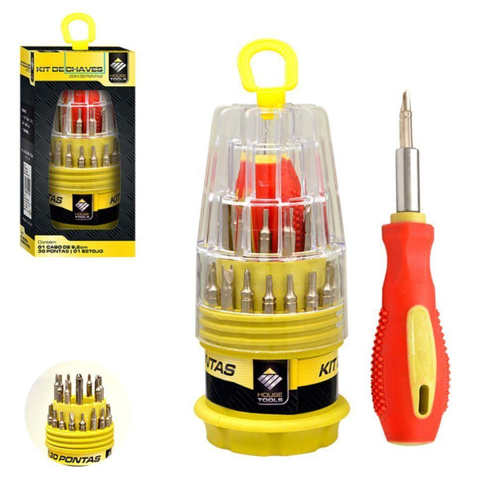 Kit de Chaves com 30 Pontas House Tools