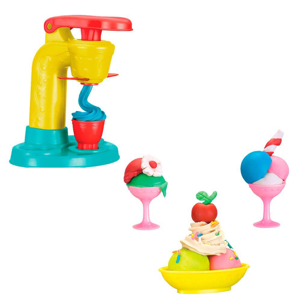 Kit Massinha de Modelar Sorveteria Divertida Brinquedo Art Brink