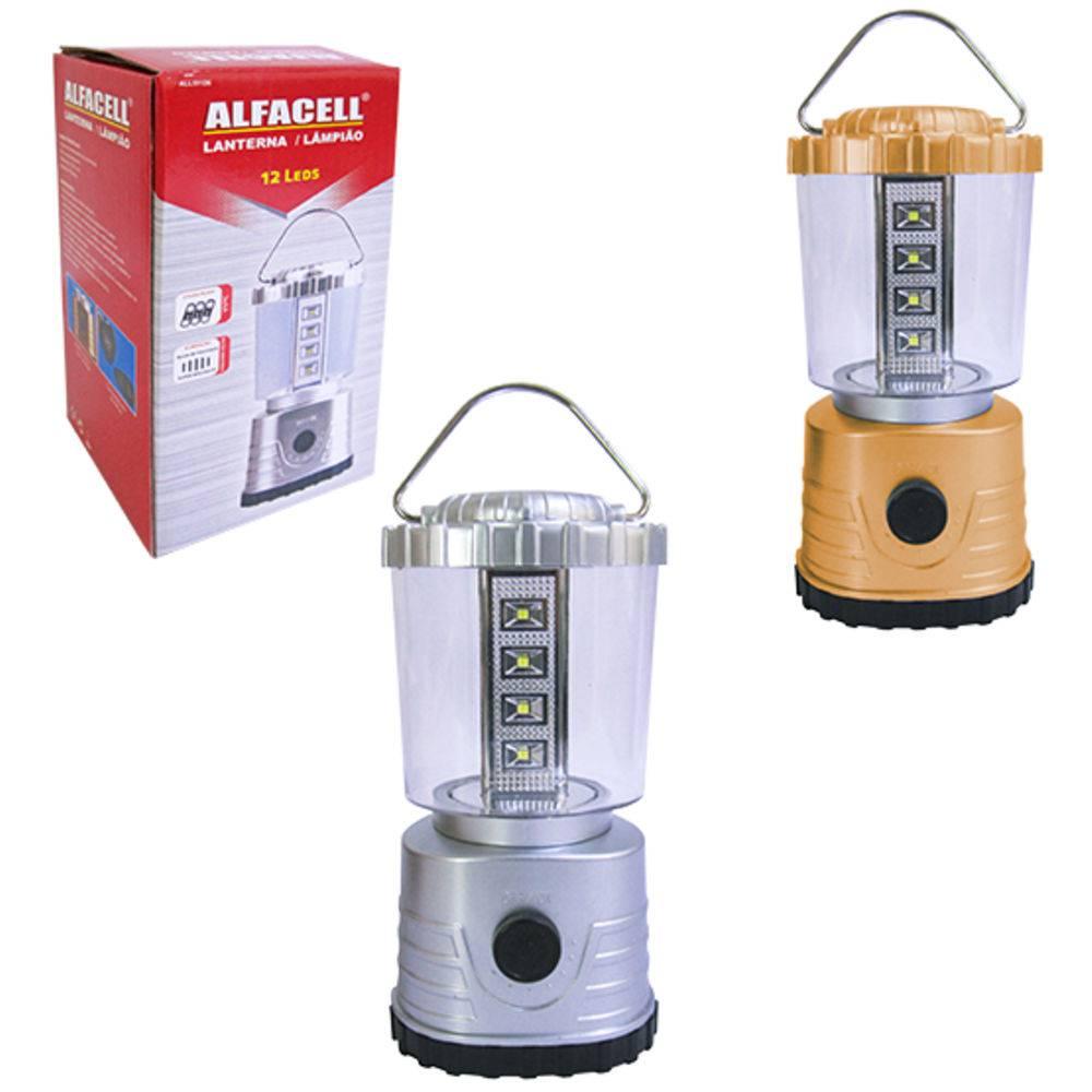 Lanterna Lampião Luminária 12 Leds Alfacell