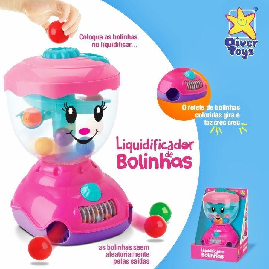Liquidificador de Bolinhas Didatico Brinquedo Educativo DiverToys