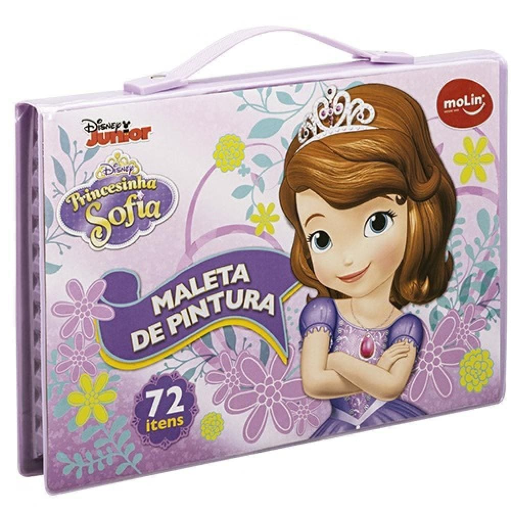 Maleta de Pintura Disney Princesa Sofia 72 Itens Molin