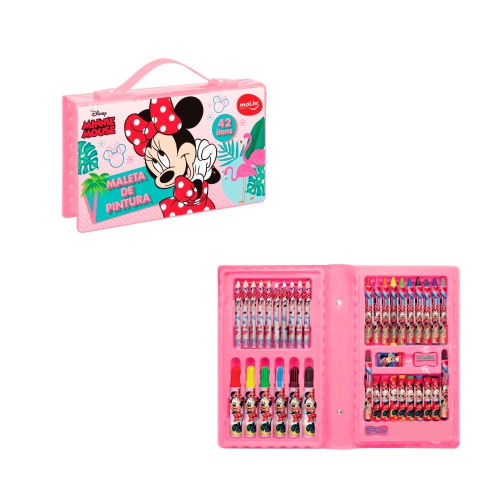 Maleta de Pintura para Colorir Minnie Mouse 42 Itens Molin