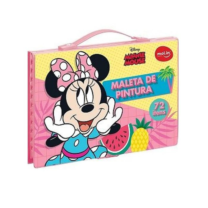 Maleta de Pintura para Colorir Minnie Mouse  72 Itens Molin