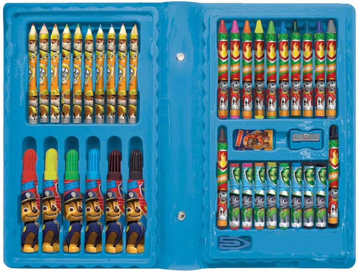 Maleta de Pintura Patrulha Canina Azul 42 Itens Molin