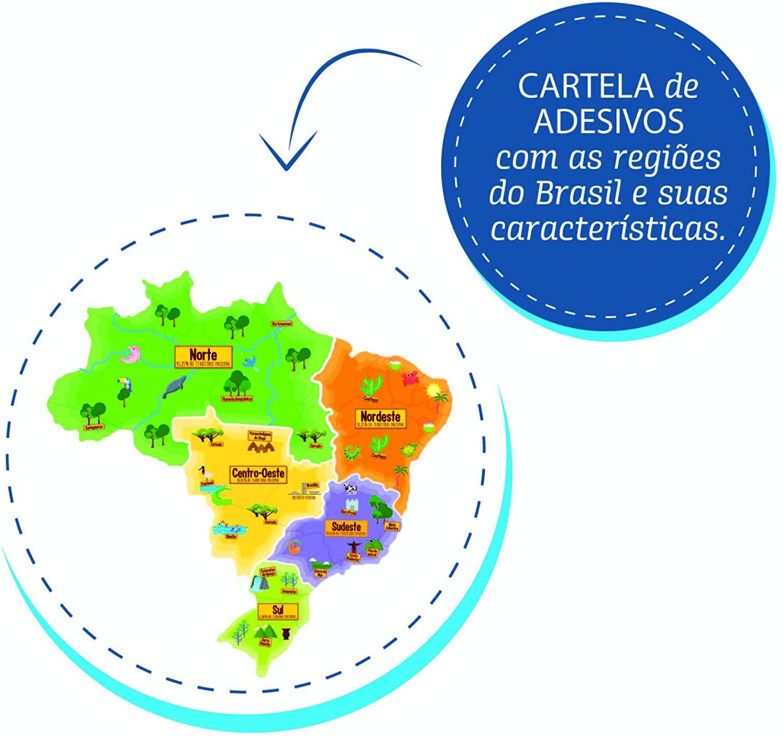 Mapa do Brasil para Montar Quebra-cabeça 3d Plástico Elka
