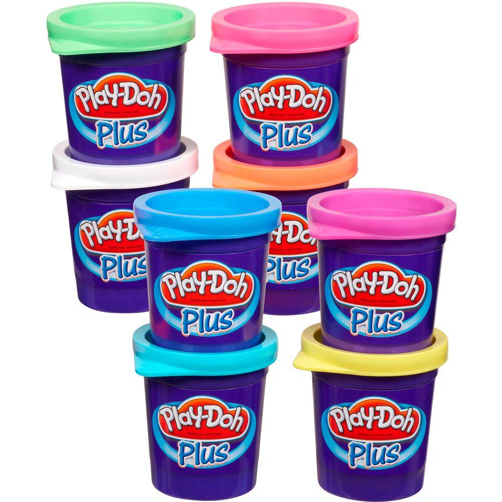 Massa de Modelar Plus Kit 8 Potes Color Play Doh