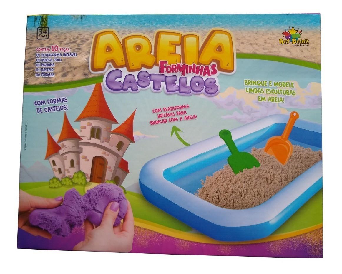 Massinha de Areia com Forminhas de Castelo e Tapete Inflável Art Brink