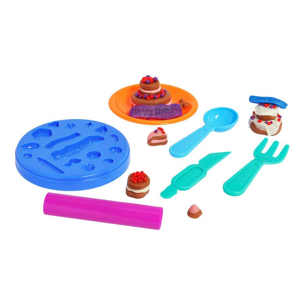 Massinha De Modelar Bolo de Aniversário Modele e Brinque Dm Toys