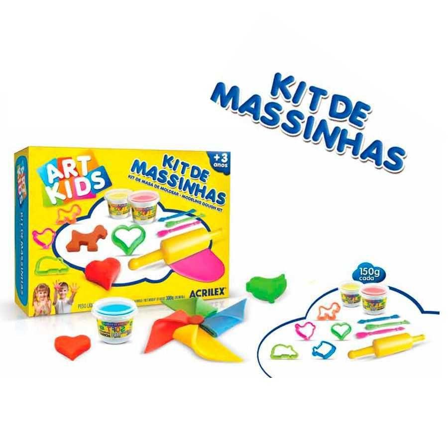 Massinha de Modelar Criativa Art Kids com Moldes ref 40003 Acrilex