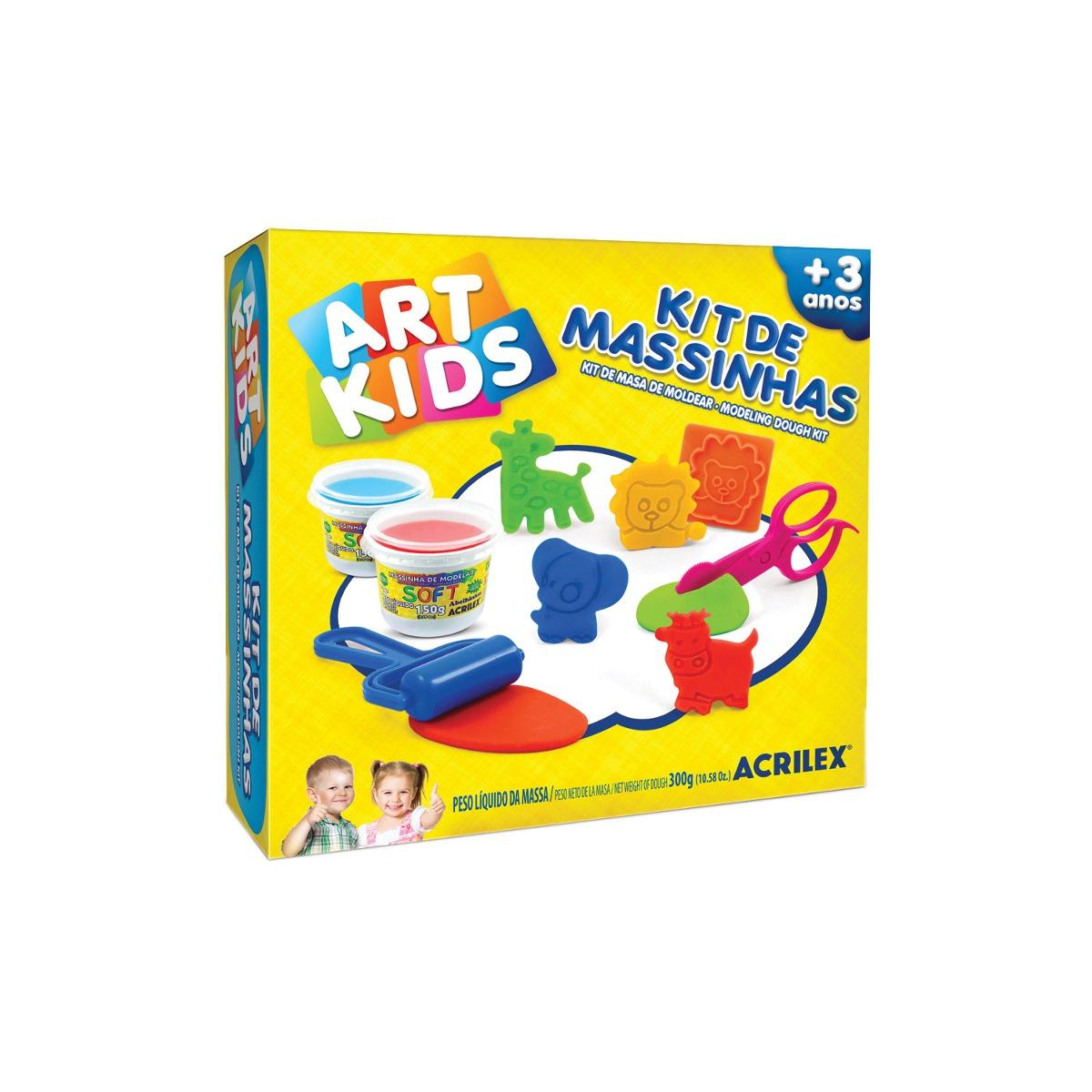 Massinha de Modelar Criativa Art Kids com Moldes ref 40007 Acrilex