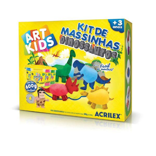 Massinha de Modelar Criativa Art Kids Dinossauros ref 40048 Acrilex