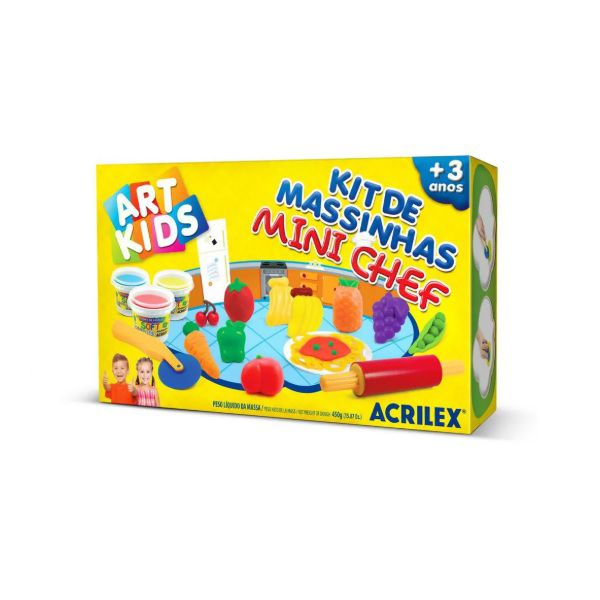 Massinha de Modelar Criativa Art Kids Mini Chef ref 40008 Acrilex