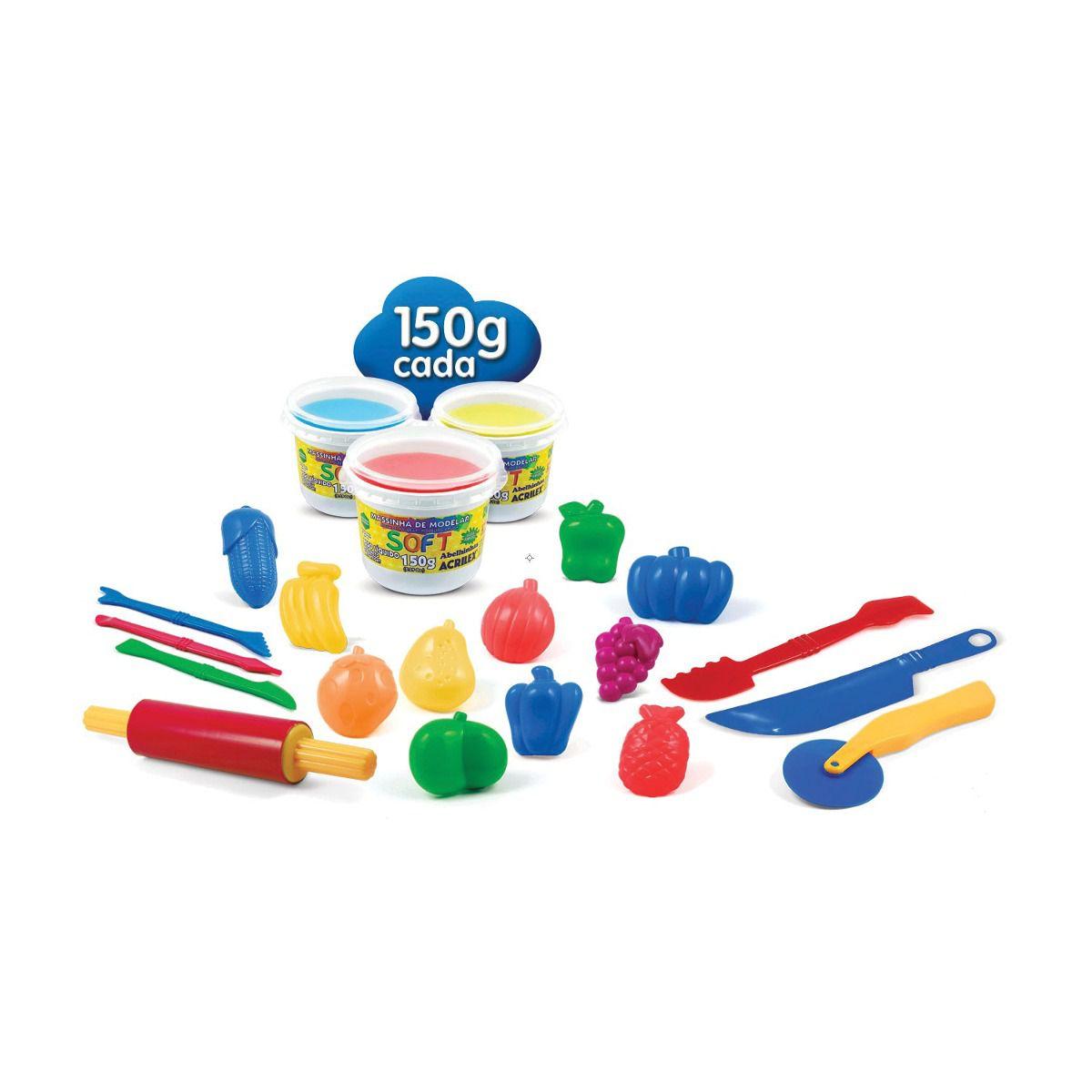 Massinha de Modelar Criativa Art Kids Mini Chef ref 40008 Acrilex