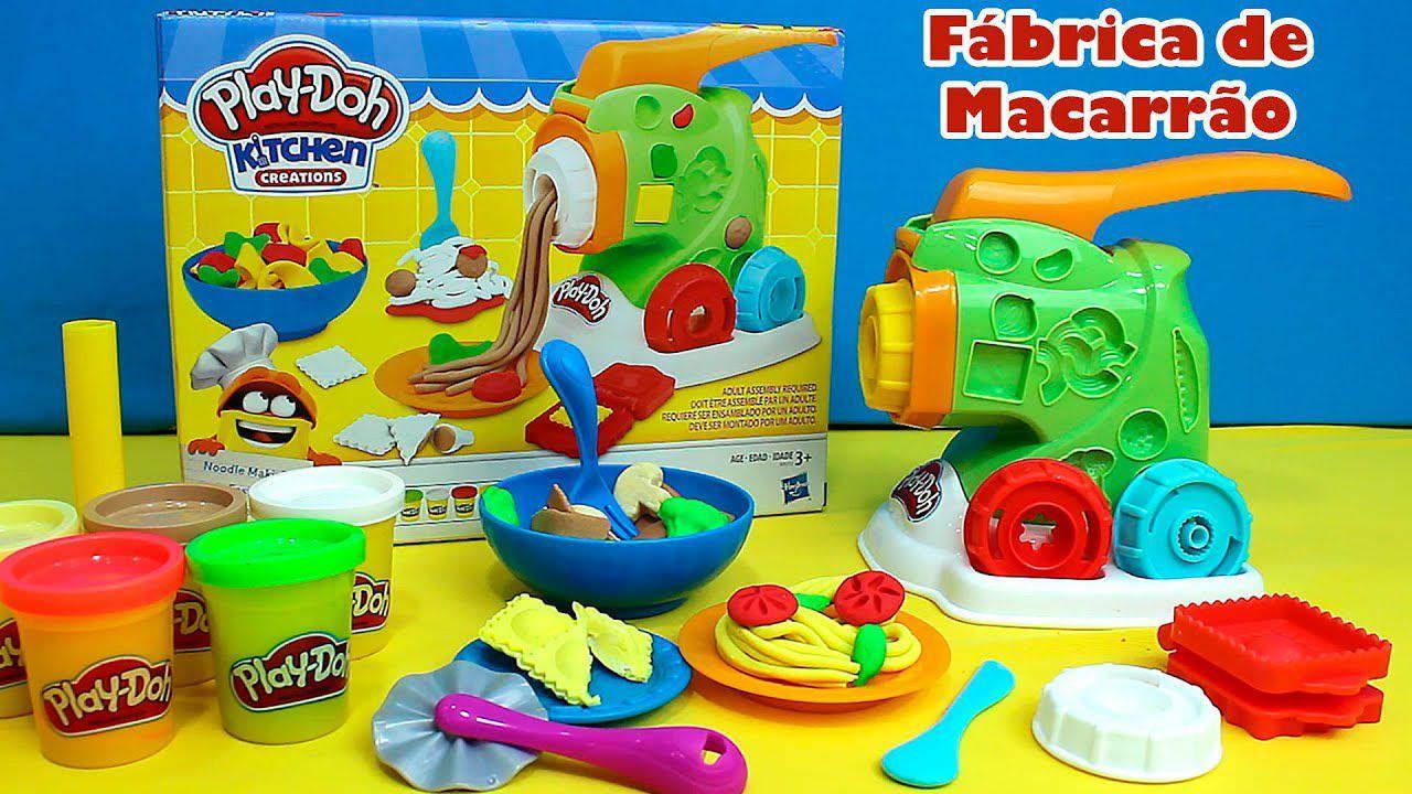 Massinha de Modelar Fábrica de Macarrão Play Doh