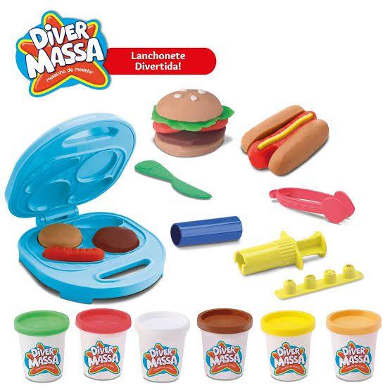 Massinha de Modelar Lanchonete Divertida Brinquedo Diver Toys