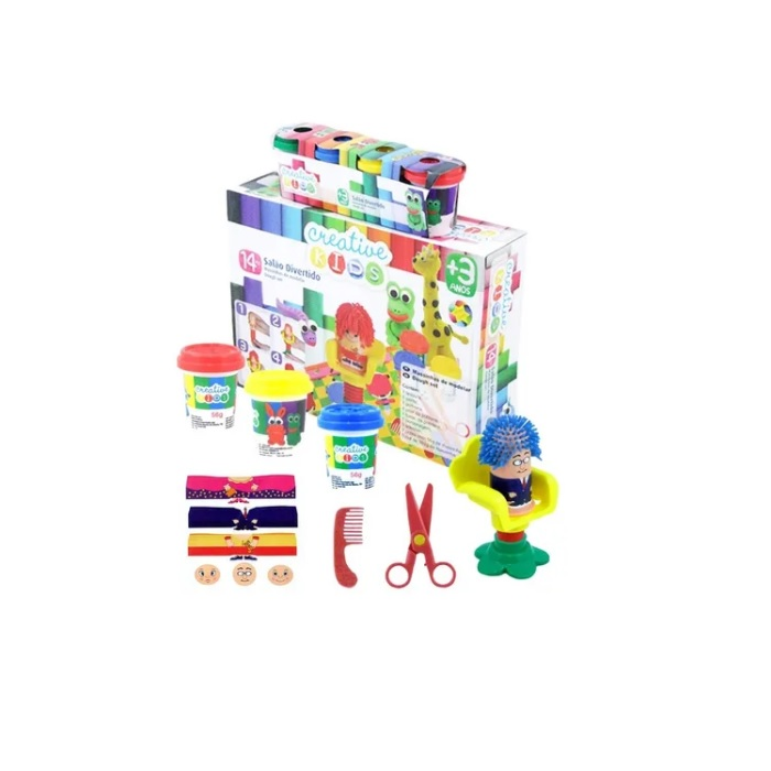 Massinha de Modelar Salão Divertido 14 peças Creative Kids Batiki