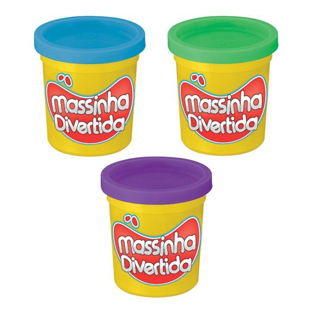 Massinha Divertida 3 Potes 85g Cada Art Brink