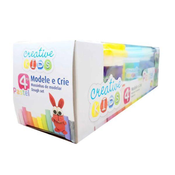 Massinhas de Modelar Creative Kids Modele e Crie 4 Potes Batiki