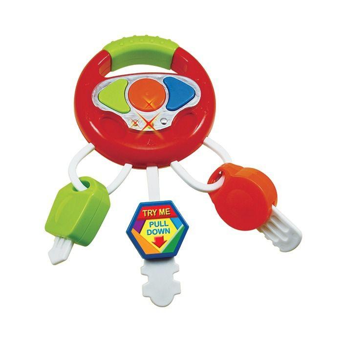 Mini Volante Infantil com Som e Luz Brinquedo para Bebe Art Brink